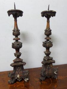 candelieri antichi del 700