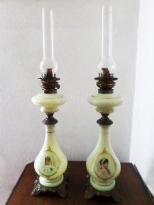 lampade antiche ad olio dipinte a mano