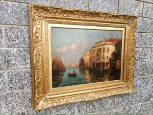 dipinto antico canale di venezia