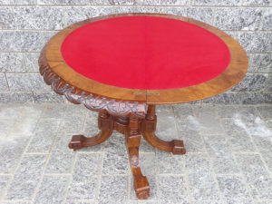 tavolino da gioco mezzaluna