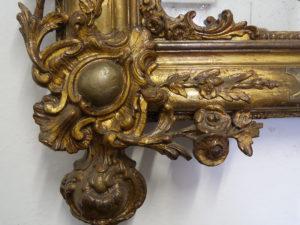 specchiera antica umbertina intagliata