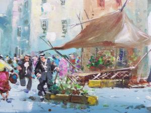 quadro mercato del pittore a. conte