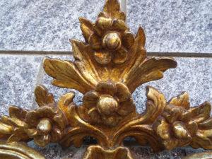 specchiera antica piemontese doratura a mecca