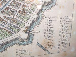 Stampa antica raffigurante le porte di Milano