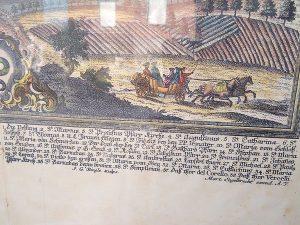 Stampa Antica di Milano- Mayland con biscione